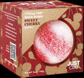 CBD Bath Bomb Cherry Scent