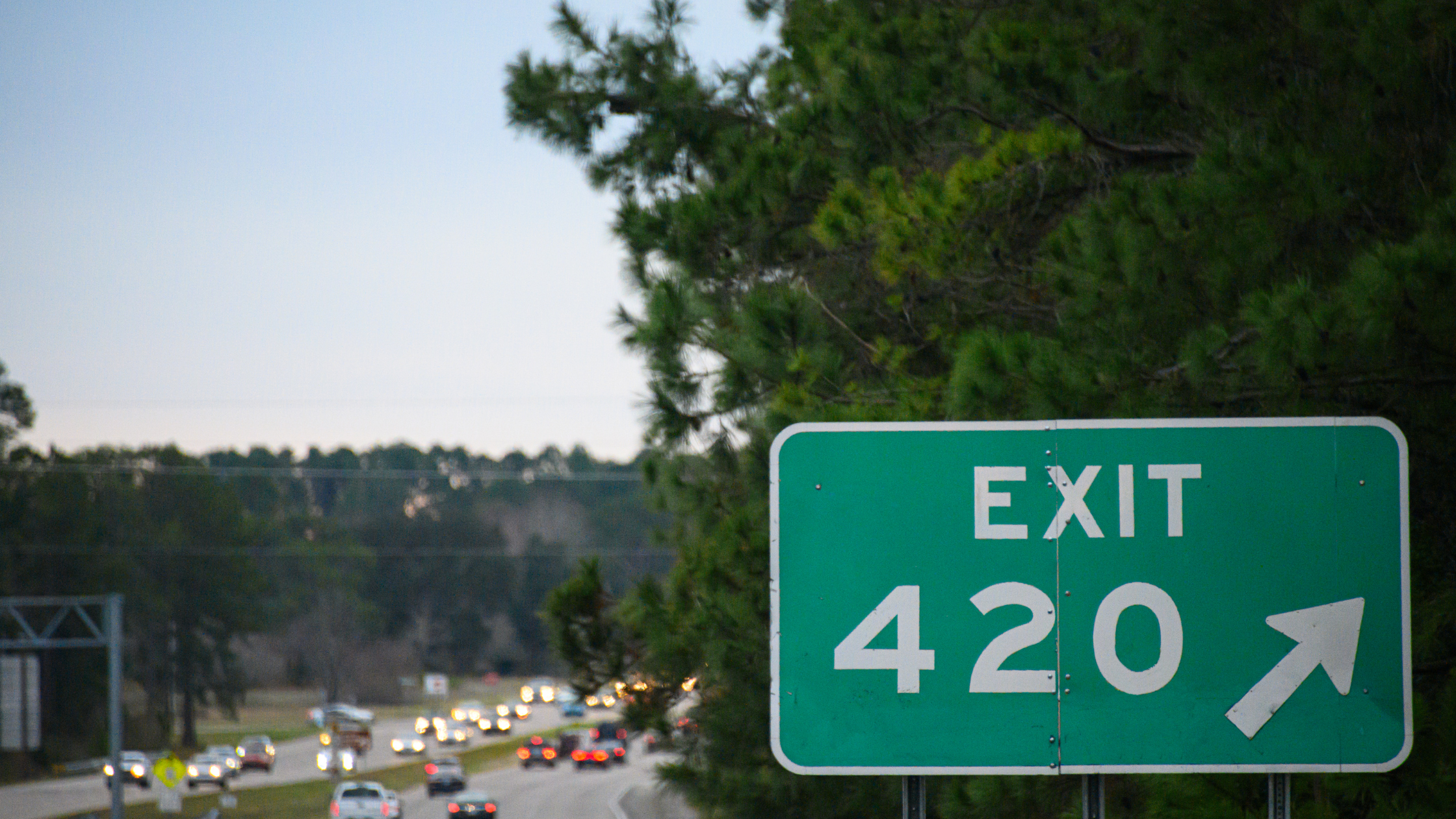 Exit 420 street sign